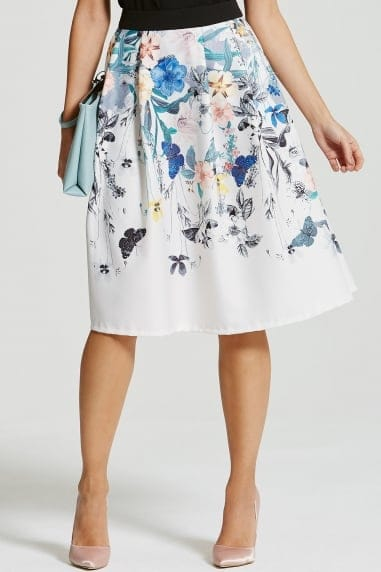 Botanical Print Full Skirt