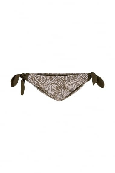 Vero Moda Green Palm Print Bikini Bottoms