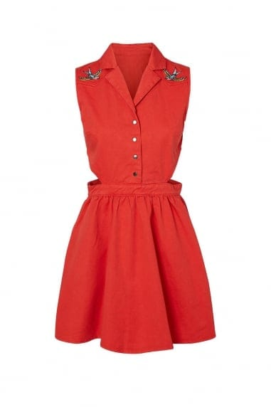 Noisy May Coral Swallow Cut Out Dress