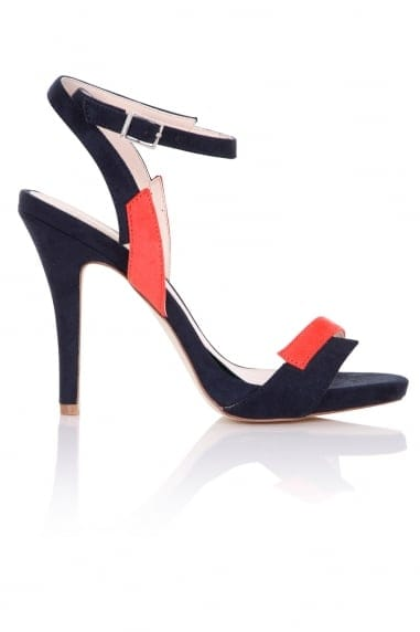 Lightning Navy and Orange Contrast Sandals