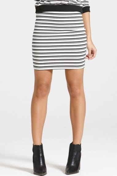 Monochrome Stripe Skirt