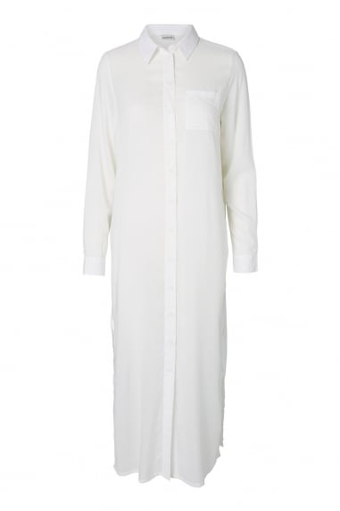 Noisy May White Maxi Shirt