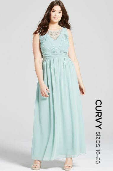 Sage Empire Line Maxi Dress