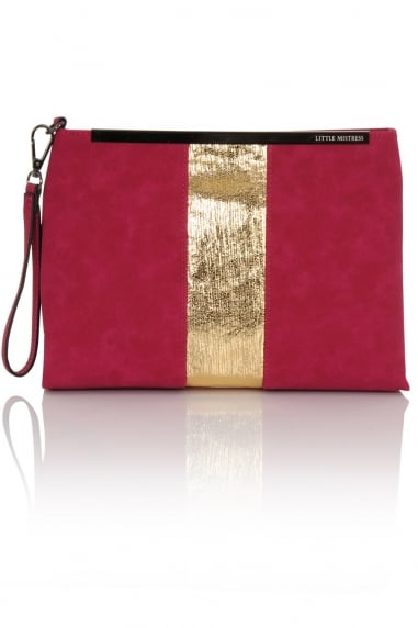 Pink Panel Clutch