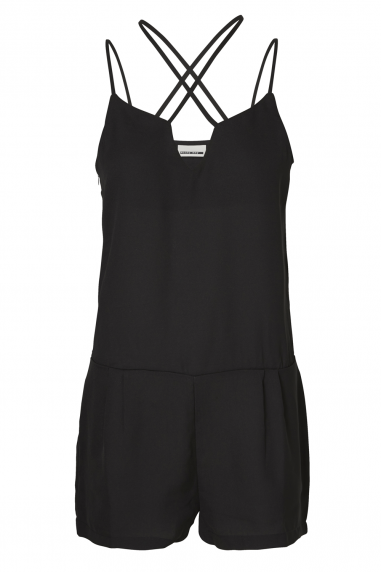 Noisy May Black Cross Strap Playsuit