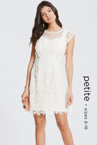 Cream Crochet and Lace Mini Dress