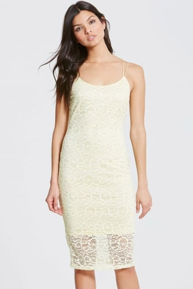 Pale Yellow Bodycon