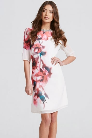 Blur Print Shift Dress