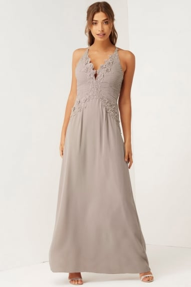 Mink Applique Maxi Dress