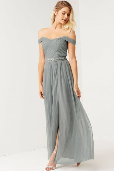 Waterlily Jewel Waist Maxi