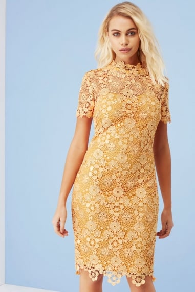 Yellow Daisy Crochet Dress