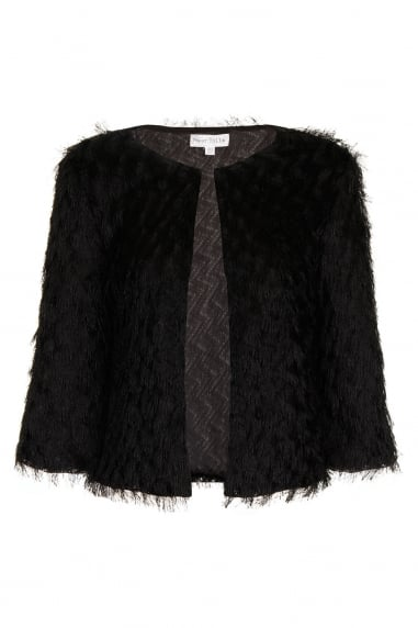 Black Mini Fringe Jacket