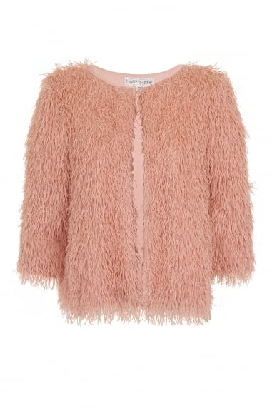 Blush Mini Fringe Jacket