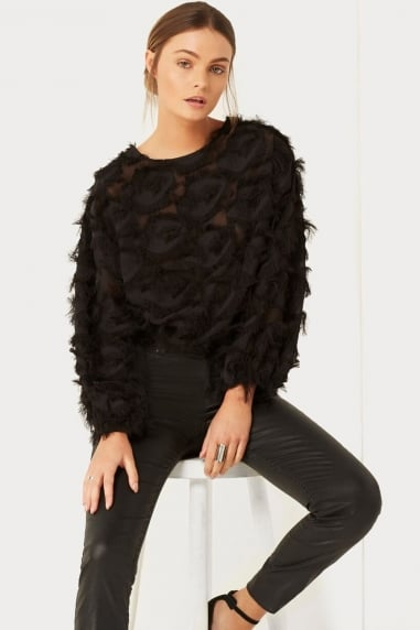 Black Eyelash Jumper