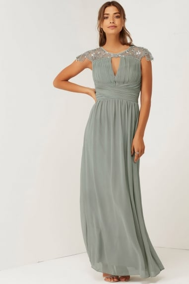 Waterlily Embellished Maxi