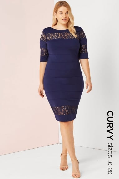 Navy Bodycon Dress