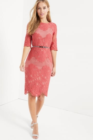 Terracotta Multi Lace Dress