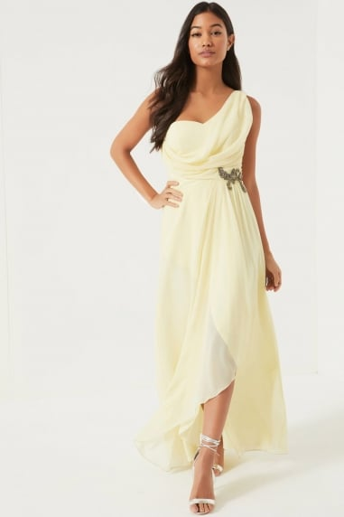 Lemon Jewel Waist Maxi Dress