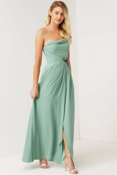 Sage Jewel Waist Maxi Dress