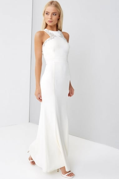 Cream Maxi Wedding Dress