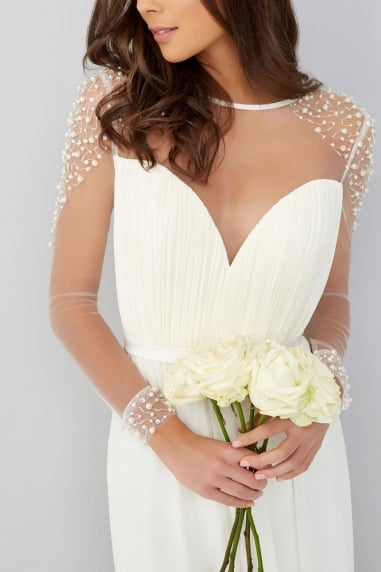 Pearl Chiffon Wedding Dress