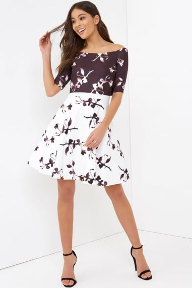 2 in 1 Floral Print Dress