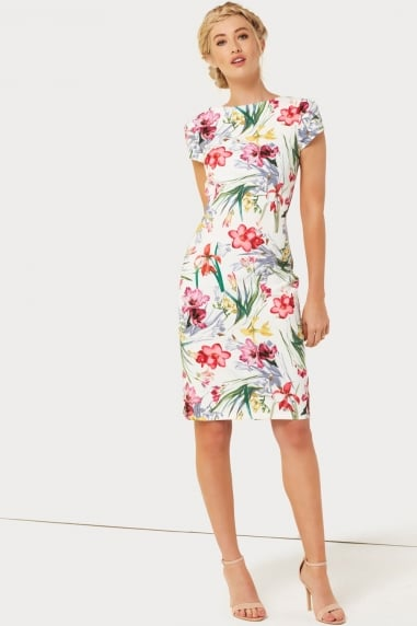 Print Pleat Dress