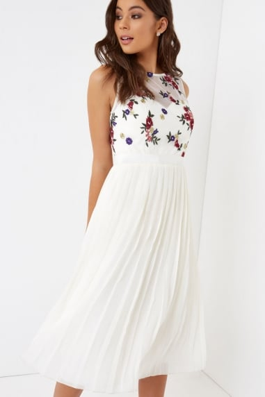 Embroidererd Midi Dress