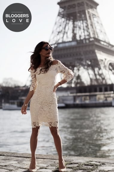 Cream Crochet Bardot Dress