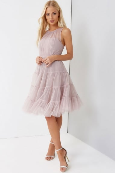 Tulle Rose Prom Dress