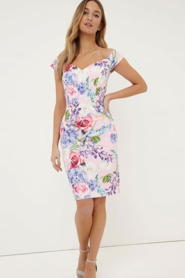 Print Bardot Dress
