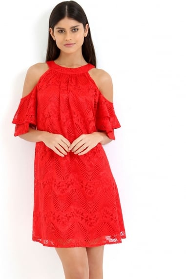 Red Shift Dress