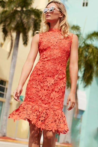 Orange Peplum Dress