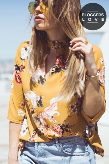 Yellow Print Top