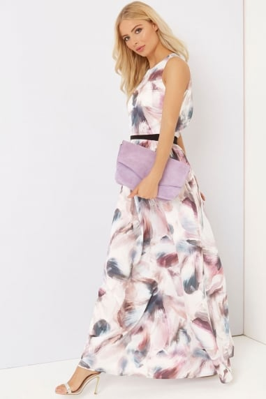 Watercolour Print Maxi Dress