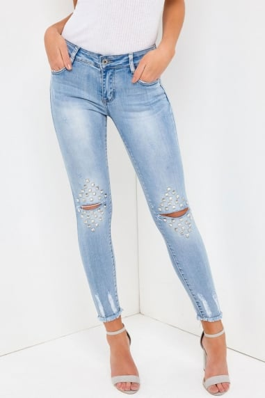 Silver Stud Jeans
