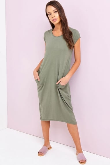 Khaki Pocket Dress