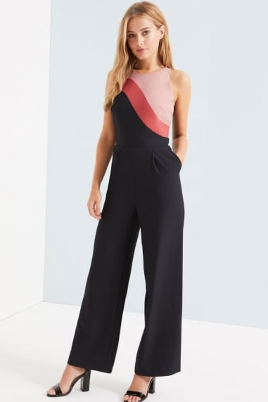 Terracotta Colour Block Jumpsuit
