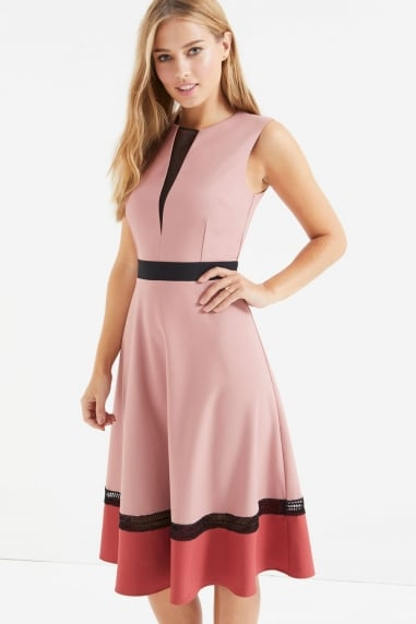 Apricot Colour Block Dress