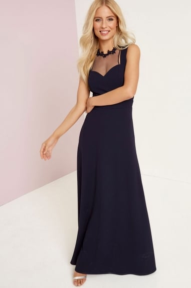 Navy Applique Maxi