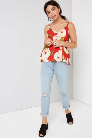 Red Floral Cami