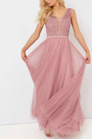Blush Applique Maxi