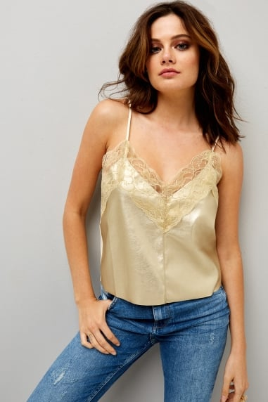 Gold Lace Trim Cami