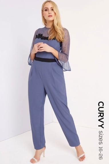 Lavender Grey Jumpsuit