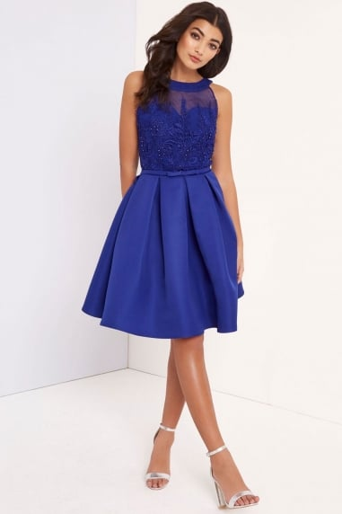Cobalt Applique Prom