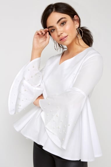 White Flare Top