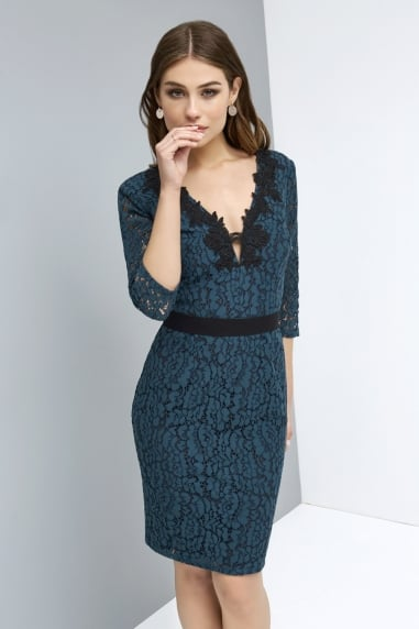 Peacock Lace Dress