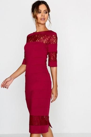 Berry Bodycon Dress