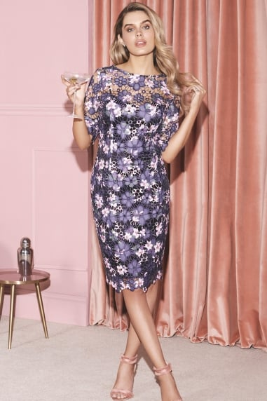 Blue Print Bodycon Dress