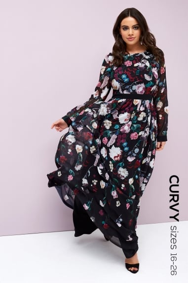 Bloom Print Maxi Dress